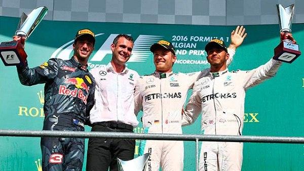 Нико Росберг стал победителем Гран-при Бельгии 2016