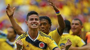 Колумбия одержала три победы из трех возможных и вышла на Уругвай